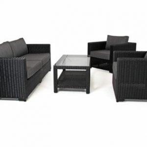 Poilsio-komplektas-stalas-3-vietė sofa-fotelis-Ninja-lauko-baldai-Brafab-bjarnum-baldai